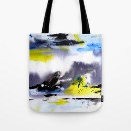 Watercolor Abstract Horizons Tote Bag