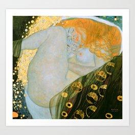 """Gustav Klimt """"Danaë"""" Art Print"""
