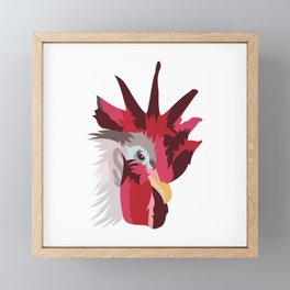 Red Rooster Framed Mini Art Print