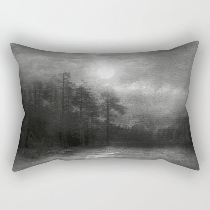 Black and White - Hope, in the turquoise water Rectangular Pillow
