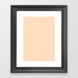 Very pale orange Framed Art Print