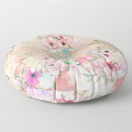 Botanical Fragrances in Blush Cloud Floor Pillow