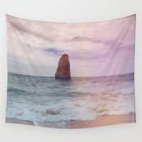alone Wall Tapestries featuring alone  by Julia Kovtunyak
