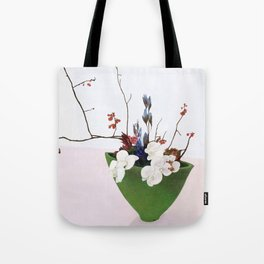 Orchids in a Green Pot Tote Bag