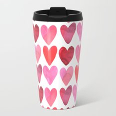 Heart Watercolor Travel Mug