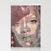 rihanna Stationery Cards featuring Rihanna by Bit of Art