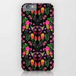 Little Birdies with Florals iPhone Case