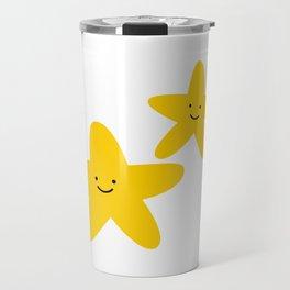 Kawaii Starfish Friends Travel Mug