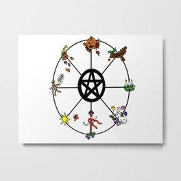 Wheel Of Seasons Metal Print