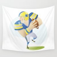 football Wall Tapestries featuring Football by Dues Creatius
