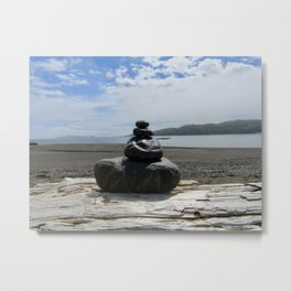 Finding Balance at the Beach Metal Print