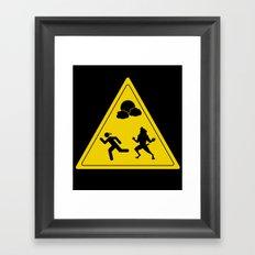 full moon - take caution  Framed Art Print