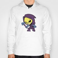 skeletor Hoodies featuring Lil Skeletor by Cynthia Vasquez