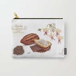 Chocolate and Pollinator Carry-All Pouch