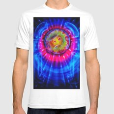 Space and time 2 Mens Fitted Tee MEDIUM White