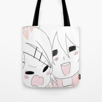 vocaloid Tote Bags featuring Love and Hate by DoubleKuro