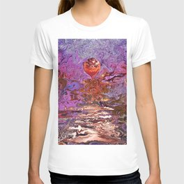 Sunset in the cherry blossom garden T-shirt