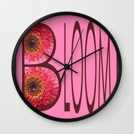 Pink Bloom Wall Clock