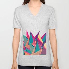 Triangles Intensive (White) Unisex V-Neck