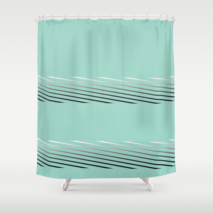 Tiffany Blue Abstract Shower Curtain