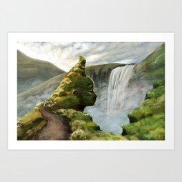 Waterfall Guardian Art Print