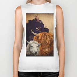 Sheep Cow 123 Biker Tank