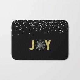 JOY w/White Snowflakes Bath Mat