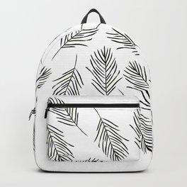 Black leaves Backpack