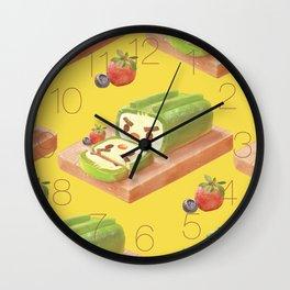 Matcha Cake Roll Wall Clock