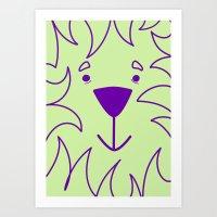 Lime lion Art Print