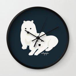 Samoyed puppy Wall Clock