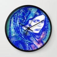 princess leia Wall Clocks featuring Princess Leia by grapeloverarts