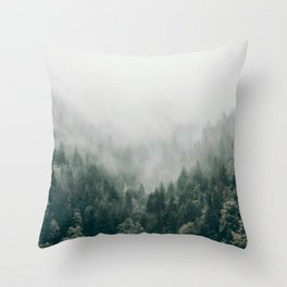 Foggy Forest 3 Throw Pillow