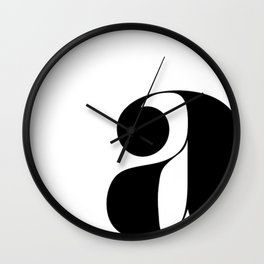 "letter ""a"" Wall Clock"