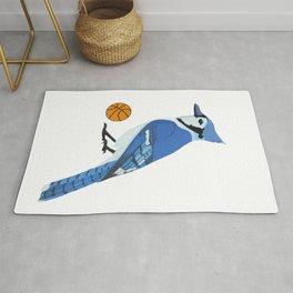 Basketball Blue Jay Rug