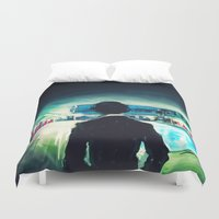 alicexz Duvet Covers featuring The Pool by Alice X. Zhang