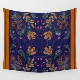 TAN & BLUE Wall Tapestry
