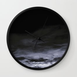 BLACK & BLUE & WHITE TOUCHING #2 #abstract #decor #art #society6 Wall Clock