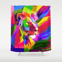 Head of the Pride Fx Shower Curtain