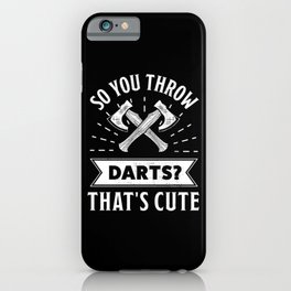 Axe throwing gift for men & women Funny iPhone Case