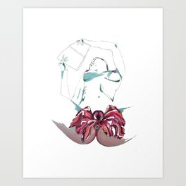 Vagina flower Art Print