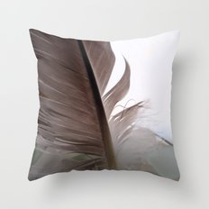 Feather and Sea Glass Throw Pillow