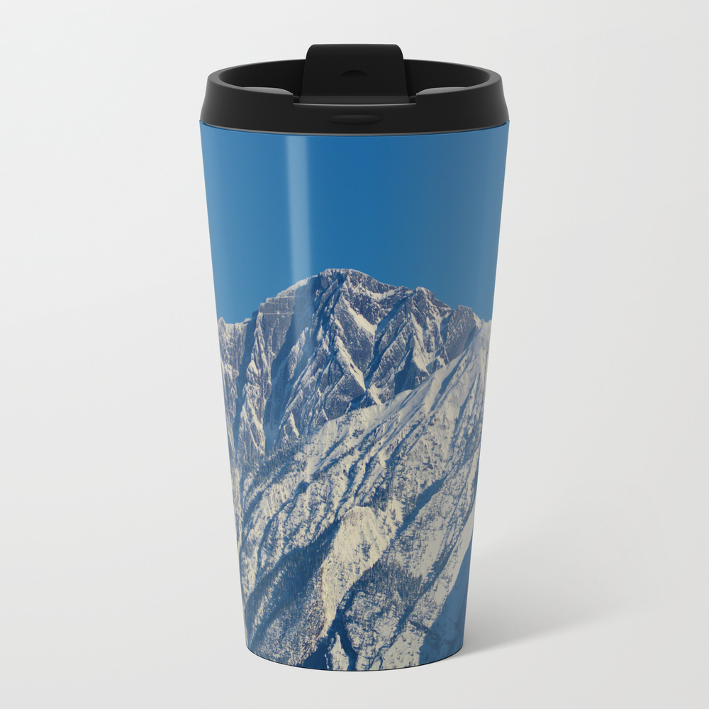 Fresh Snow On The Mountains Of Jasper National Par… Travel Cup TRM7926460