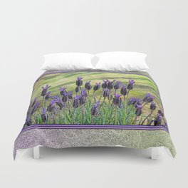 SPANISH LAVENDER AND MOWED SHADOWS Duvet Cover