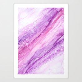 Pink Marble Vibes Art Print