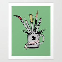 Ink cup Art Print