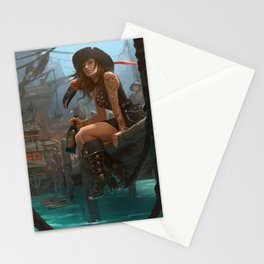 Pirate Haven Tortuga Stationery Cards