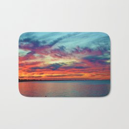 Sunset on Lake St. Clair in Belle River, Ontario Bath Mat