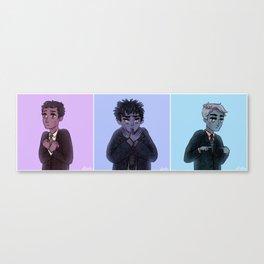 sad purple boys Canvas Print