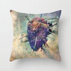 Damaged Heart Throw Pillow